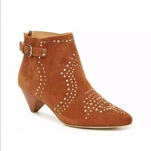 Joie Bicksion Studded Booties Size 38 Suede